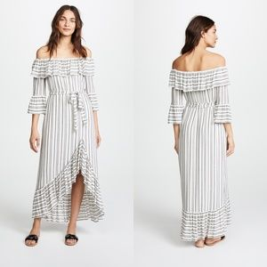 RACHEL ZOE Off The Shoulder Viola Maxi Dress